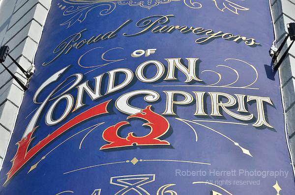 London Spirit sign outside a pub.