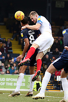 Matthew Clarke of Portsmouth gets in a header during Southend United vs Portsmouth, Sky Bet EFL League 1 Football at Roots Hall on 16th February 2019
