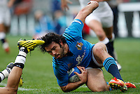 Rugby, Torneo delle Sei Nazioni: Italia vs Inghilterra. Roma, 14 febbraio 2016.<br /> Italy's Luke McLean in action during the Six Nations rugby union international match between Italy and England at Rome's Olympic stadium, 14 February 2016.<br /> UPDATE IMAGES PRESS/Riccardo De Luca