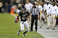 1 October 2011:  FIU wide receiver T.Y. Hilton (4) takes a reception for a first down in the fourth quarter as the Duke University Blue Devils defeated the FIU Golden Panthers, 31-27, at FIU Stadium in Miami, Florida.