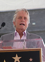 LOS ANGELES, CA - SEPTEMBER 13: Michael Douglas at the Hollywood Walk Of Fame Ceremony honoring Eric McCormack in Los Angeles, California on September 13, 2018. <br /> CAP/ADM/FS<br /> &copy;FS/ADM/Capital Pictures