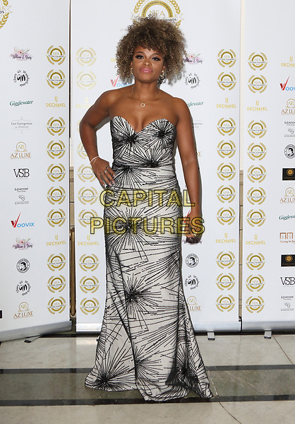 Fleur East at the National Film Awards at the Porchester Hall, London on  Wednesday 28 March 2018 <br /> CAP/ROS<br /> &copy;ROS/Capital Pictures