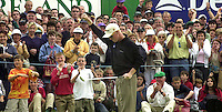 Patrik Sjoland salutes his final putt  the 18th green and  victory in the Murphy's Irish Open at Ballybunion..Picture by Don MacMonagle