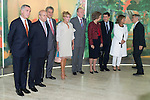 08.10.2012. Spanish Royals, Juan Carlos and Sofia, preside the ceremony commemorating the 20th anniversary of the Thyssen-Bornemisza Museum located in the Villahermosa Palace, in Madrid, Spain. In the image (2L-R) Jose Ignacio Wert (Minister of Culture of Spain), Jesus Posada (President of the Spanish parliament), Baroness Carmen Thyssen-Bornemisza, King Juan Carlos of Spain, Queen Sofia of Spain, Ignacio Gonzalez (Madrid Regional President) and Ana Botella (Mayor of Madrid). (Alterphotos/Marta Gonzalez)