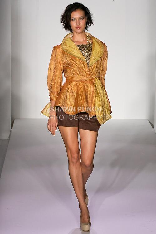 Model walks runway in during the Danilo Gabrielli Spring 2012 fashion show, at Nolcha Fashion Week Spring 2012.