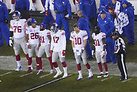 Teamcaptains: offensive tackle Nate Solder (76) of the New York Giants, running back Saquon Barkley (26) of the New York Giants, free safety Antoine Bethea (41) of the New York Giants, outside linebacker Alec Ogletree (47) of the New York Giants, quarterback Eli Manning (10) of the New York Giants, defensive back Michael Thomas (31) of the New York Giants - 09.12.2019: Philadelphia Eagles vs. New York Giants, Monday Night Football, Lincoln Financial Field