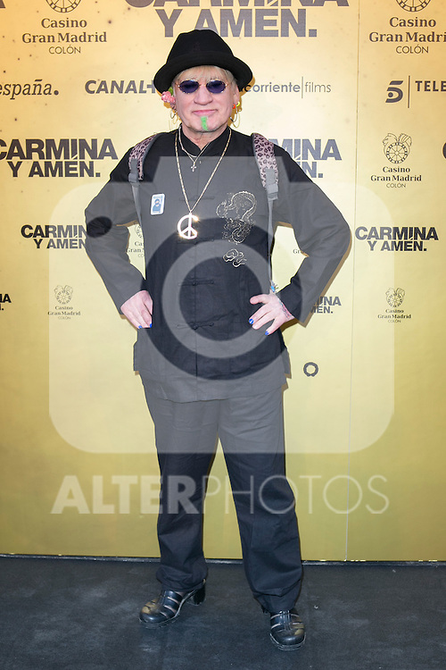 "Spanish singer Paco Clavel attend the Premiere of the movie ""Carmina y Amen"" at the Callao Cinema in Madrid, Spain. April 28, 2014. (ALTERPHOTOS/Carlos Dafonte)"