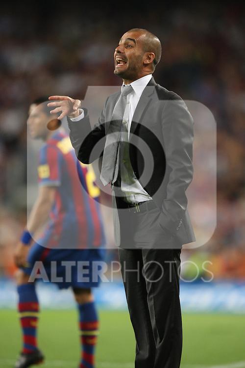 football barcelona - almeria  03-10-2009 season 2009-2010 spanish first division pep guardiola