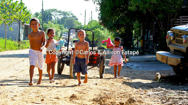 Colombian children at play, Colombia, South America