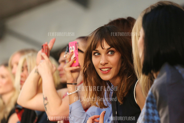 Alexa Chung at the House of Holland catwalk show as part of London Fashion Week SS13, London. 15/09/2012 Picture by: Henry Harris / Featureflash