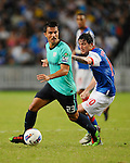 SO KON PO, HONG KONG - JULY 30: Dani Guerrero of Kitchee in action against Mauro Formica Blackburn Rovers during the Asia Trophy pre-season friendly match at the Hong Kong Stadium on July 30, 2011 in So Kon Po, Hong Kong.  Photo by Victor Fraile / The Power of Sport Images