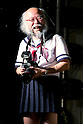 "July 20, 2013, Tokyo, Japan - The Japanese idol group ""Chaos de Japon"" performance at Pasela Resorts Grande Shibuya on July 20, 2013. The middle-aged man ""GrowHair"", who is producer and member of the junior-high schoolgirls idol group ""Chaos de Japon"", wears a schoolgirl uniform (Sailor Suit) every weekend around Tokyo. He holds a Master in Mathematics from Waseda University and works in a printing company on weekdays. He started wearing the schoolgirl uniform in June 2011, because of a Ramen shop promotion for which people in a Sailor-suit could get free noodles. Mr. GrowHair joined the idol group ""Chaos de Japon"" this March. During the performance he takes pictures and also dances and sings. (Photo by Rodrigo Reyes Marin/AFLO)"