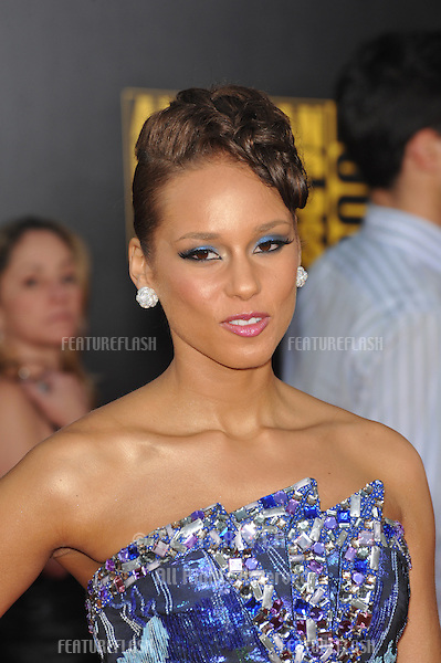 Alicia Keys at the 2009 American Music Awards at the Nokia Theatre L.A. Live..November 22, 2009  Los Angeles, CA.Picture: Paul Smith / Featureflash