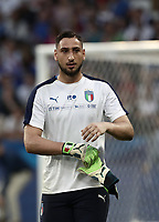 International friendly football match France vs Italy, Allianz Riviera, Nice, France, June 1, 2018. <br /> Italy's goalkeeper Gianluigi Donnarumma prior to the international friendly football match between France and Italy at the Allianz Riviera in Nice on June 1, 2018.<br /> UPDATE IMAGES PRESS/Isabella Bonotto