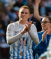 Stuart Beavon of Coventry City applauds the support during the The Checkatrade Trophy / EFL Trophy FINAL match between Oxford United and Coventry City at Wembley Stadium, London, England on 2 April 2017. Photo by Kevin Prescod.