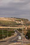 Israel, Shephelah, Road 38, Tel Azekah in the background