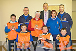 TOP TEAM: Winners of the Garda Soccer Blitz with Kerry's Kieran Donaghy at the Rathooane Community Centre on Thursday seated l-r: Eric O'Brien, Daniel Teahan and Dillian McCarthy. Back l-r; Timmy Ryle, Garda John O'Sullivan, Cara O'Sullivan, Kieran Donaghy, Garda Elaine Cusack and Garda Paul O'Donovan.