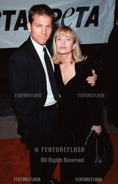 18SEP99: Actress REBECCA DE MORNAY & boyfriend at PETA's Party of the Century, in Los Angeles.     .© Paul Smith / Featureflash