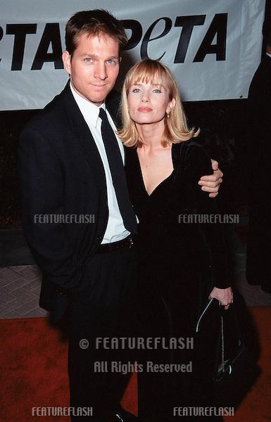 18SEP99: Actress REBECCA DE MORNAY & boyfriend at PETA's Party of the Century, in Los Angeles.     .© Paul Smith / Featureflash