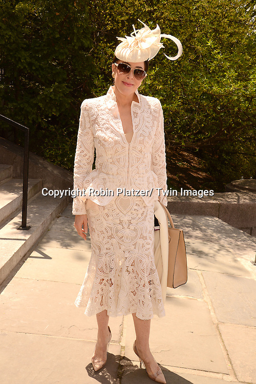 Guest  attends the 32nd Annual Frederick Law Olmsted Awards Hat Luncheon given by The Central Park Conservancy on May 7,2014 in Central Park in New York City, NY USA.
