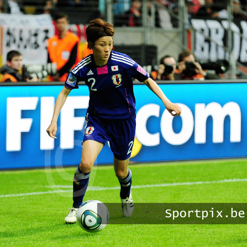 Fifa Women's World Cup Germany 2011 : Japan - USA  at Commerzbank Arena Frankfurt : Yukari Kinga.foto DAVID CATRY / Vrouwenteam.be
