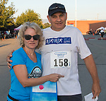 Stephanie and Dennis Farias during the 49th Annual Journal Jog in Reno, Nevada on Sunday, September 10, 2017.