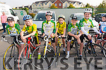 Tiernach O'Shea, Charlie Mc Gillycuddy, Barry Moriarty, Joseph Lanthan, Aona O'Shea and Tadhg O'Shea from Killorglin Cycling Club at the Meet and Greet with Nicolas Roche from Sky Team at the Killarney Racecourse last Sunday morning.