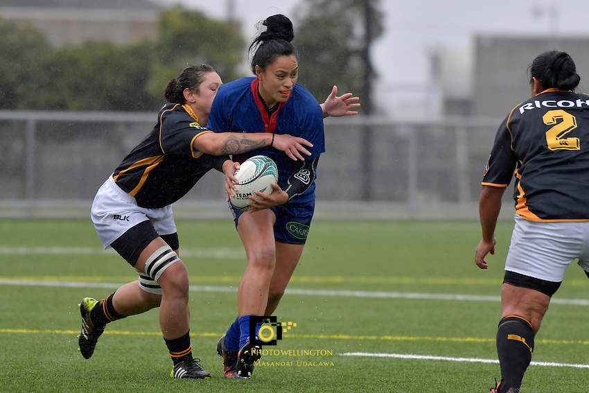Action from the Wellington Pride Development v Wellington Samoan Women at Fraser Park, Lower Hutt, New Zealand on Saturday 13 August 2016. <br />