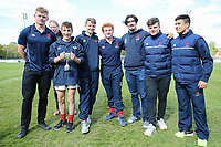 Half time presentation during the Greene King IPA Championship match between London Scottish Football Club and Nottingham Rugby at Richmond Athletic Ground, Richmond, United Kingdom on 15 April 2017. Photo by David Horn.