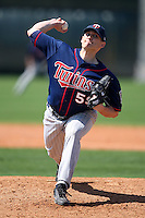 March 18, 2010:  Pitcher Steven Blevins (59) of the Minnesota Twins organization during Spring Training at the Ft. Myers Training Complex in Ft. Myers, FL.  Photo By Mike Janes/Four Seam Images