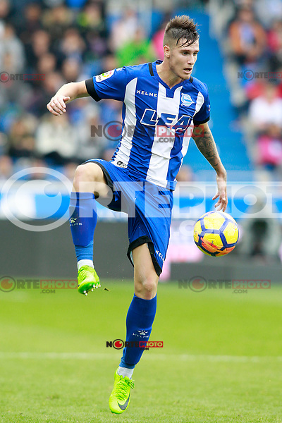 Deportivo Alaves' Carlos Vigaray during La Liga match. October 28,2017. (ALTERPHOTOS/Acero) /NortePhoto.com