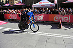 Mikel Landa (ESP) Movistar Team off the start ramp of Stage 1 of the 2019 Giro d'Italia, an individual time trial running 8km from Bologna to the Sanctuary of San Luca, Bologna, Italy. 11th May 2019.<br /> Picture: Eoin Clarke | Cyclefile<br /> <br /> All photos usage must carry mandatory copyright credit (© Cyclefile | Eoin Clarke)