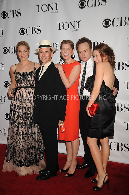 WWW.ACEPIXS.COM . . . . .....June 15, 2008. New York City,....Actors Mary McCormack, Mark Rylance, Christine Baranski, Bradley Whitford, and Kathryn Hahn arrive at the 62nd Annual Tony Awards held at Radio City Music Hall on June 15, 2008 in New York City...  ....Please byline: Kristin Callahan - ACEPIXS.COM..... *** ***..Ace Pictures, Inc:  ..Philip Vaughan (646) 769 0430..e-mail: info@acepixs.com..web: http://www.acepixs.com