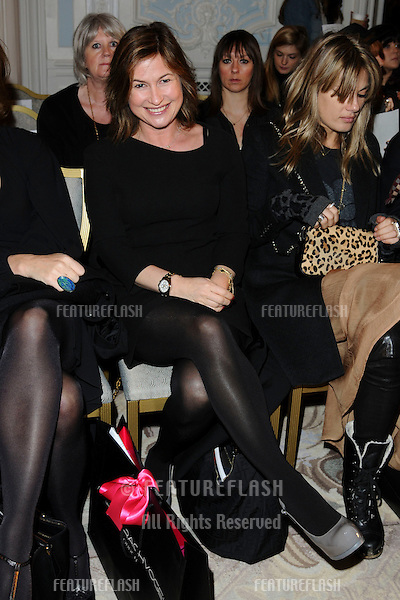 Emma Forbes at the Maria Gratchvogel show as part of London Fashion Week, Savoy Hotel, London. 20/02/2011  Picture by: Steve Vas / Featureflash