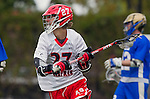 Orange, CA 03-05-17 - Fran Bonadies (Chapman #27) in action during the UCLA - Champman Southern Lacrosse Conference MCLA Division 1 Men's Lacrosse game.