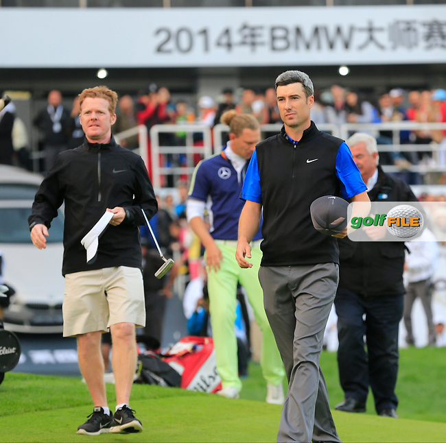 Ross Fisher (ENG) finishes joint 2nd at the end of Sunday's playoff hole in the Final Round of the 2014 BMW Masters held at Lake Malaren, Shanghai, China. 2nd November 2014.<br /> Picture: Eoin Clarke www.golffile.ie