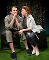 """03/02/2011. """"A Rude Awakening"""", written by Dr Barry Peters and directed by Olivia Rowe, opens at the New End Theatre, Hampstead. Jonathan Woodward (as Tom Holdsworth) and Genevieve Adam (as Dalina Malinsky). Picture credit should read: Jane Hobson"""