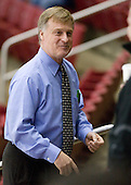 "Don ""Toot"" Cahoon (UMass - Head Coach) - The Boston College Eagles defeated the University of Massachusetts-Amherst Minutemen 2-1 (OT) on Friday, February 26, 2010, at Conte Forum in Chestnut Hill, Massachusetts."