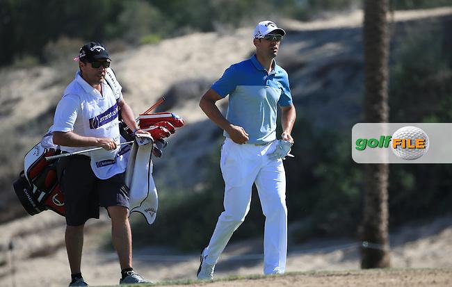 Alvaro Quiros (ESP) during Round Three of the 2016 Omega Dubai Desert Classic, played on the Emirates Golf Club, Dubai, United Arab Emirates.  06/02/2016. Picture: Golffile | David Lloyd<br /> <br /> All photos usage must carry mandatory copyright credit (&copy; Golffile | David Lloyd)