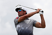 June 14th 2017, Erin, Wisconsin, USA; PGA golfer Rafa Cabrera Bello tees off on the 17th hole during the 117th US Open - Practice Round at Erin Hills in Erin, Wisconsin