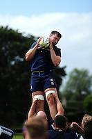Elliott Stooke of Bath Rugby wins the ball at a lineout. Bath Rugby pre-season training session on August 9, 2016 at Farleigh House in Bath, England. Photo by: Patrick Khachfe / Onside Images