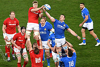 Touche Adam Beard Wales, Abraham Steyn Italy <br /> Roma 9-02-2019 Stadio Olimpico<br /> Rugby Six Nations tournament 2019  <br /> Italy - Wales <br /> Foto Andrea Staccioli / Resini / Insidefoto