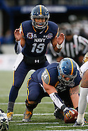Annapolis, MD - December 28, 2015:    Navy Midshipmen quarterback Keenan Reynolds (19) calls an audible during the Military Bowl game between Pitt vs Navy at Navy-Marine Corps Memorial Stadium in Annapolis, MD. (Photo by Elliott Brown/Media Images International)