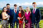 Clodagh Henry, Seamus O'Halloran, Mike Slattery, Amy Casey, Lauren Barrett and Eoin O'Sullivan, pictured at Causeway Comprehensive School Debs, at Ballyroe Heights Hotel, Tralee, on Wednesday, August 9th last,