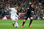 Real Madrid´s Luka Modric (L) and Paris Saint-Germain´s Adrien Rabiot during Champions League soccer match between Real Madrid  and Paris Saint Germain at Santiago Bernabeu stadium in Madrid, Spain. November 03, 2015. (ALTERPHOTOS/Victor Blanco)