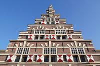 De Stadstimmerwerf aan het Galgewater in Leiden. Trapgevel