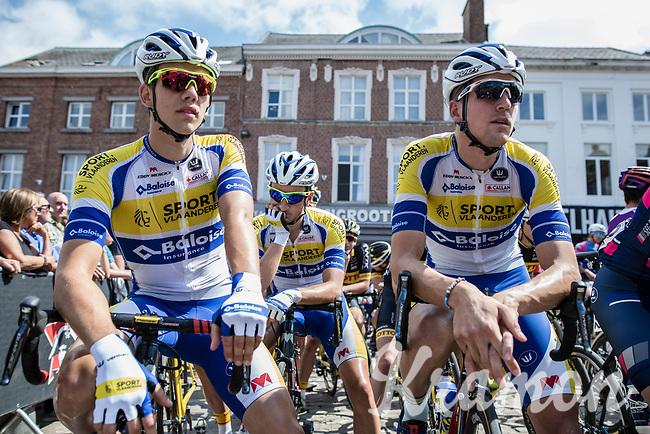 Sport Vlaanderen-Baloise riders focusing minutes before start<br /> <br /> 2nd Dwars door het Hageland 2017 (UCI 1.1)<br /> Aarschot &gt; Diest : 193km