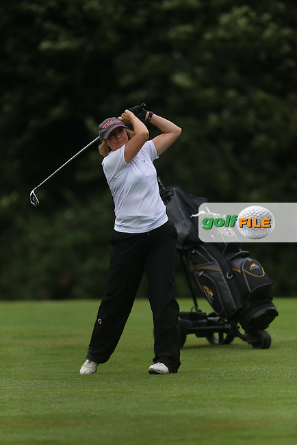 Carol Hill (Mahee Island) during the Ulster Mixed Foursomes Final, Shandon Park Golf Club, Belfast. 19/08/2016<br /> <br /> Picture Jenny Matthews / Golffile.ie<br /> <br /> All photo usage must carry mandatory copyright credit (© Golffile | Jenny Matthews)