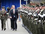 An Taoiseach Enda Kenny inspects the guard of honour at the Famine Commemoration in Drogheda. Photo: Colin Bell/pressphotos.ie