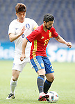 Spain's Nolito (r) and South Korea's Sungyueng Ki during friendly match. June 1,2016.(ALTERPHOTOS/Acero)